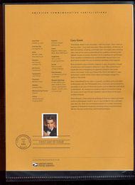 3692     37c Cary Grant USPS Souvenir Page Feb-38