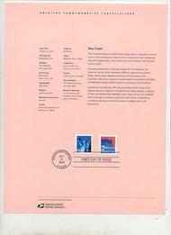 3693     (5c) Sea Coast Coil USPS Souvenir Page Feb-39