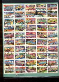 3696-45   37c Greetings from America Sheet USPS Souvenir Page Feb-42
