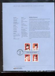 3676-79   37c Holiday Snowman (4) USPS Souvenir Page Feb-43