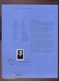 3746     37c Thurgood Marshall USPS Souvenir Page 1-Mar