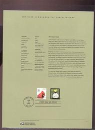 3757    10c American Clock USPS Souvenir Page 4-Mar