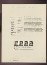 3769     (10c) New York Library Lion Coil USPS Souvenir Page 6-Mar