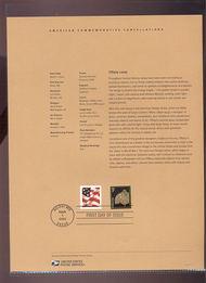 3749     1c Tiffany Lamp Coil Stamp USPS Souvenir Page 10-Mar