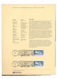 3783     37c First Flight Wright Brothers Stamp USPS Souveni 17-Mar