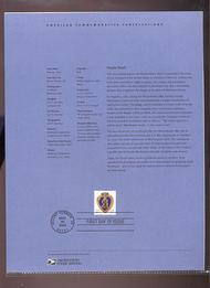 3784     37c Purple Heart Stamp USPS Souvenir Page 18-Mar