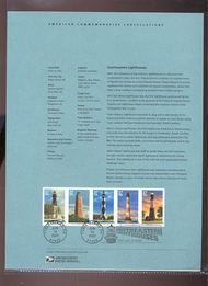 3787-91   37c Southeastern Lighthouses Stamps(5) USPS Souveni 20-Mar