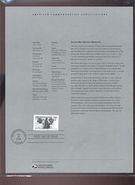 3803     37c Korean War Veterans Stamp USPS Souvenir Page 23-Mar