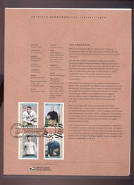 3808-11   37c Early Football Heroes (4) USPS Souvenir Page 26-Mar