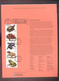 3814-18   37c Reptiles and Amphibians USPS Souvenir Page 30-Mar