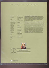 3820     37c Madonna and Child by Jan Gossaert USPS Souvenir Mar-33