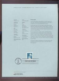 3829     37c Snowy Egret Coil Stamp USPS Souvenir Page Mar-34