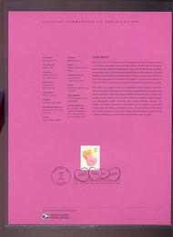 3833     37c Candy Heart USPS Souvenir Page 3-Apr