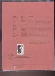 3834     37c Paul Robeson USPS Souvenir Page 4-Apr