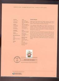 3836     37c Wedding Flowers - Booklet Single USPS Souvenir 7-Apr