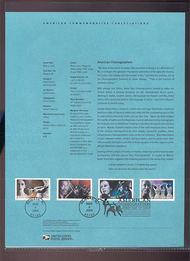 3840-43   37c American Choreographers USPS Souvenir Page 13-Apr