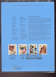 3865-68   37c The Art of Disney: Friendship USPS Souvenir Pa 21-Apr