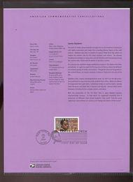 3871     37c James Baldwin USPS Souvenir Page 26-Apr