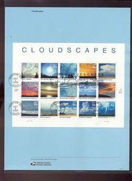 3878     37c Clouldscapes Sheet of 15 USPS Souvenir Page Apr-32