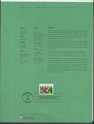 3881     37c Kwanzaa USPS Souvenir Page Apr-35
