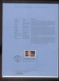 3882     37c Moss Hart USPS Souvenir Page Apr-36