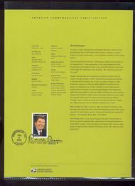 3897     37c Ronald Reagan USPS Souvenir Page 3-May
