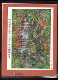 3899 37c Northeast Deciduous Forest Sheet USPS Souvenir Page 5-May