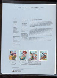 3912-3915  37c Art of Disney Characters USPS Souvenir Page 12-May