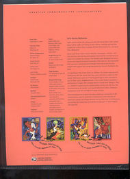 3939-3942  37c Let's Dance/Ballemos USPS Souvenir Page 22-May