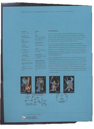 3945-3948  37c Constellations USPS Souvenir Page 25-May