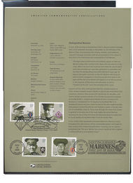 3961-3964  37c Distinguished Marines USPS Souvenir Page 27-May
