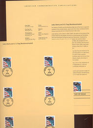 3965//3975  (39c) Flag and Lady Liberty - Various Types USPS S 28-May