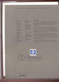 O160     39c Official Mail Coil USPS Souvenir Page 12-Jun