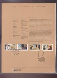 4021-4024  39c Benjamin Franklin USPS Souvenir Page 21-Jun