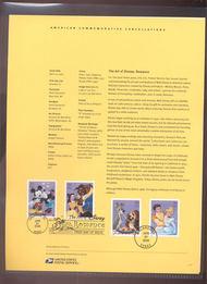 4025-8    39c The Art of Disney: Romance USPS Souvenir Page 23-Jun