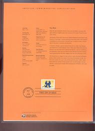 4029     39c True Blue Lovebirds USPS Souvenir Page 24-Jun