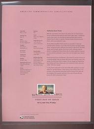 4030     39c Katherine Anne Porter USPS Souvenir Page 25-Jun