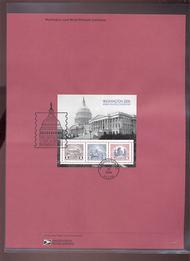 4075     $8.00 Washington 2006 - Souvenir Sheet of 3 USPS S Jun-31