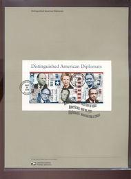 4076     29c American Diplomats - Souvenir Sheet of 6 USPS  Jun-32