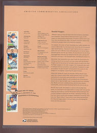 4080-4083  39c Baseball Sluggers USPS Souvenir Page Jun-36
