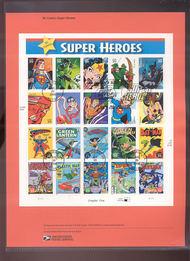 4084     29c DC Comics Super Heroes - Sheet of 20 USPS Souv Jun-37