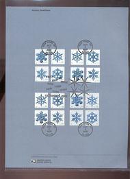4101-4116  39c Holiday Snowflakes-4 Versions USPS Souvenir Pa Jun-43