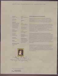 4100     39c Christmas-Chacon Madonna USPS Souvenir Page Jun-47