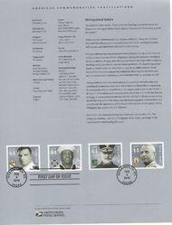 4440-3 Distinguished Sailors USPS 1006 Souvenir Page p1006