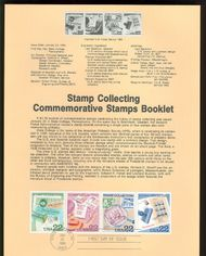 2198-2201 22c Stamp Collecting USPS 8603 Souvenir Page 8603