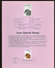 2202 22c Love Puppy USPS 8604 Souvenir Page 8604