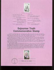 2203 22c Sojourner Truth USPS 8605 Souvenir Page 8605