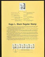 2172 5c Hugo Black USPS 8606 Souvenir Page 8606