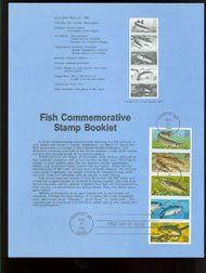 2205-9 22c Fish Booklet USPS 8609 Souvenir Page 8609