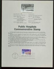 2210 22c Public Hospitals USPS 8610 Souvenir Page 8610
